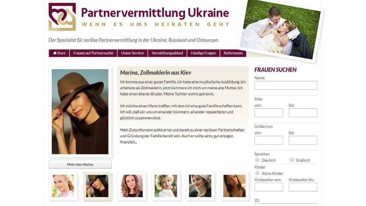 Test partnervermittlungen ukraine
